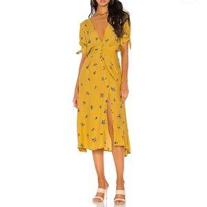 Faithfull the Brand Floral Billie Midi Dress